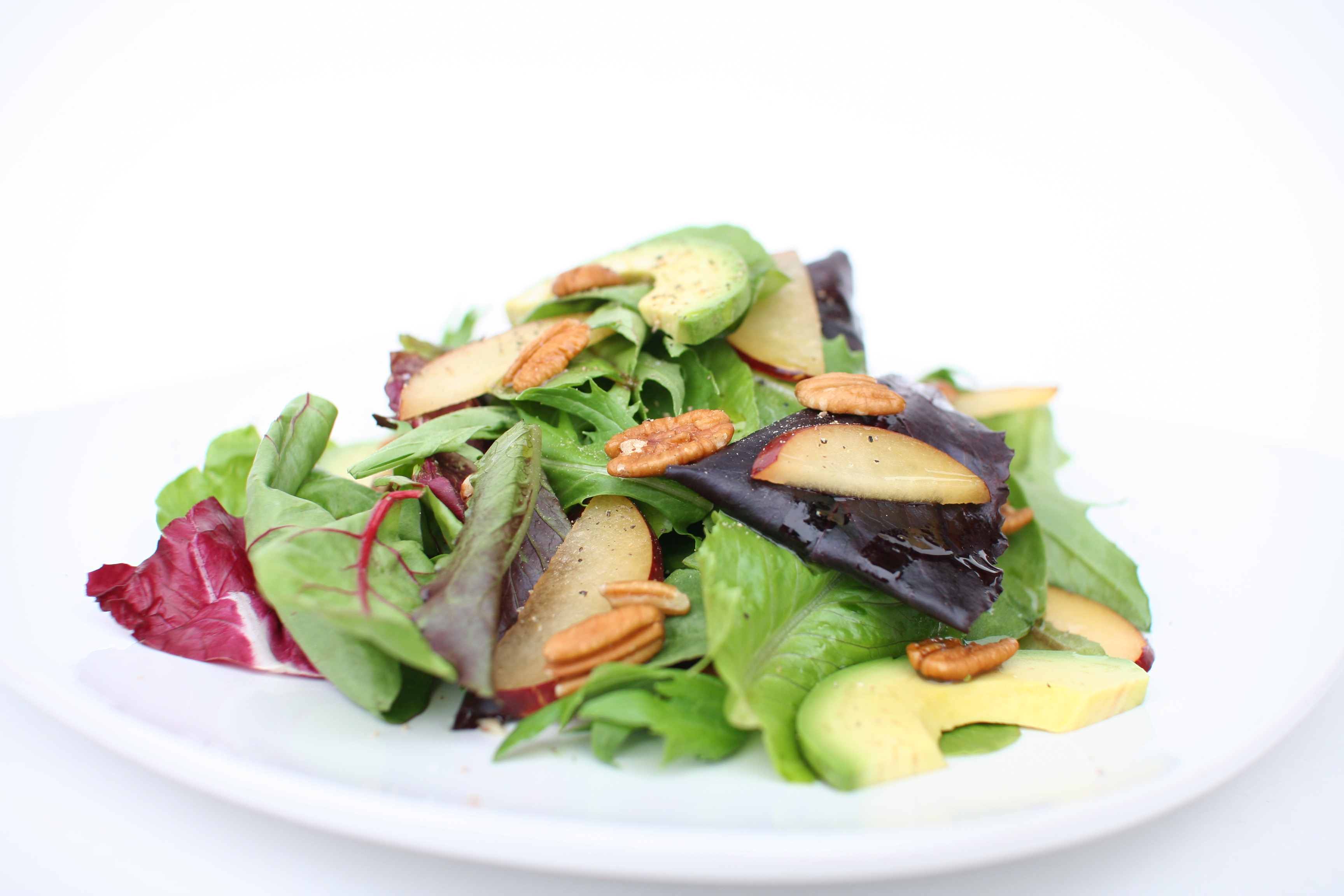 Plum, Avocado, & Pecan Salad-2
