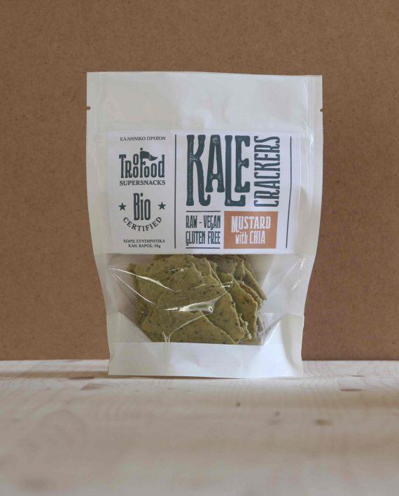 Kale Crackers CHIA & MUSTARD 50g